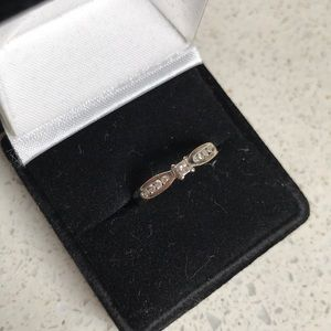 Diamonds and white gold ring